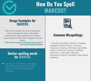 Correct spelling for Marcos