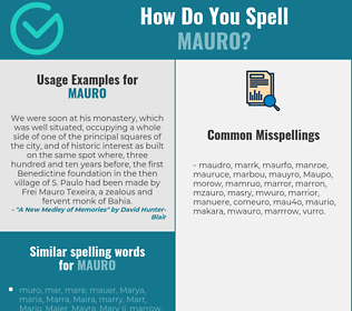 Correct spelling for Mauro