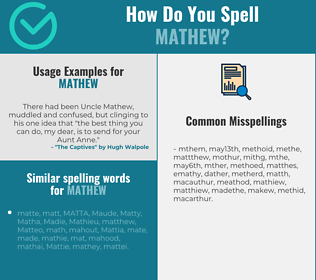 Correct spelling for Mathew