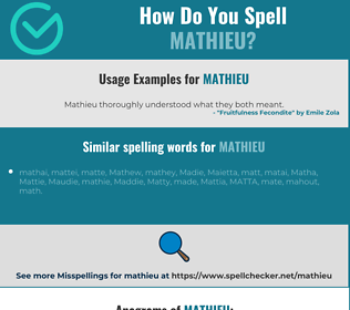 Correct spelling for Mathieu