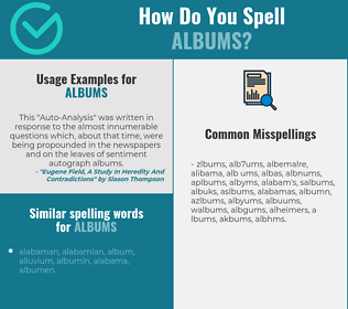 Correct spelling for albums