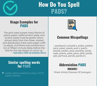 Correct spelling for pads