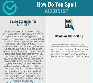 Correct spelling for accuses