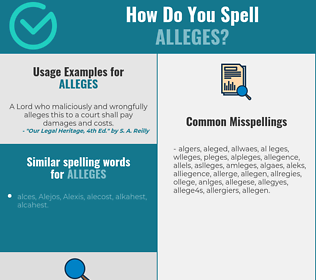 Correct spelling for alleges
