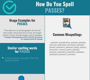 Correct spelling for passes