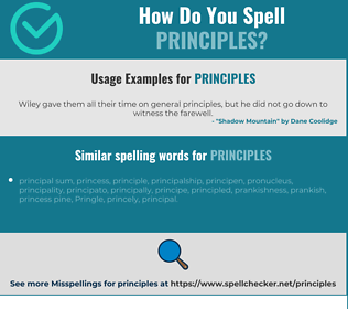 Correct spelling for principles