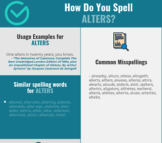 Correct spelling for alters