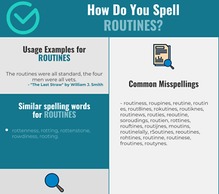 Correct spelling for routines