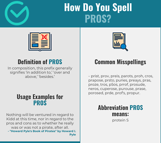 Correct spelling for pros