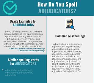 Correct spelling for adjudicators