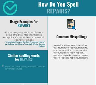 Correct spelling for repairs