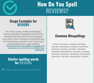 Correct spelling for reviews