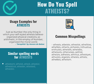 Correct spelling for atheists