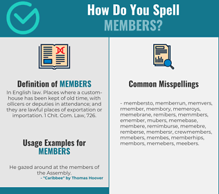 Correct spelling for members