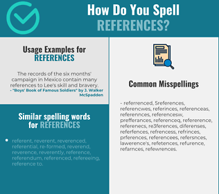 Correct spelling for references