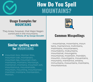 Correct spelling for mountains