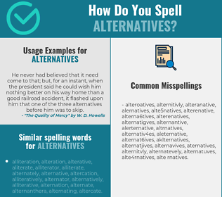Correct spelling for alternatives