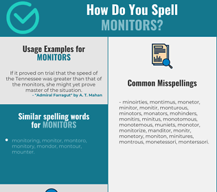 Correct spelling for monitors