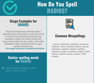 Correct spelling for radios