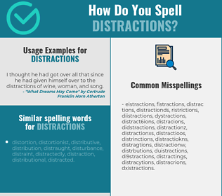 Correct spelling for distractions