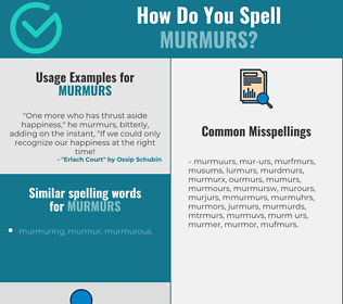Correct spelling for murmurs