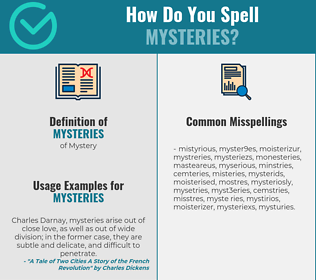 Correct spelling for mysteries