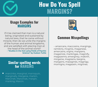 Correct spelling for margins