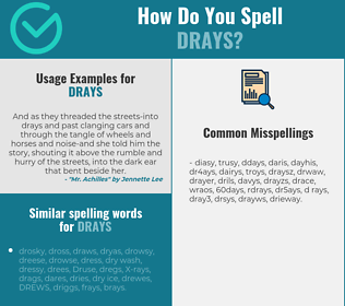 Correct spelling for drays