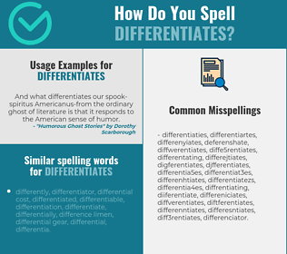 Correct spelling for differentiates