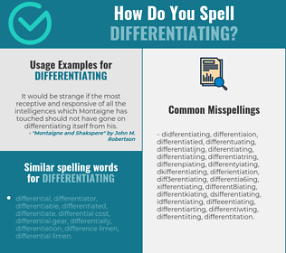Correct spelling for differentiating