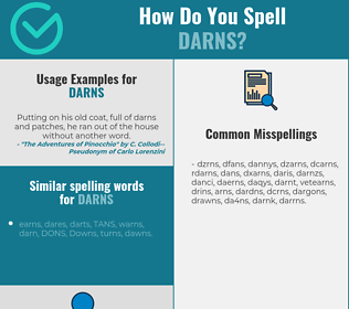 Correct spelling for darns