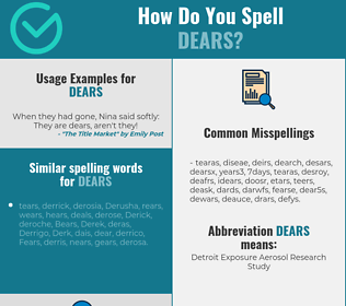 Correct spelling for dears