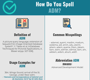 Correct spelling for ADM