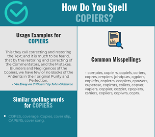 Correct spelling for copiers