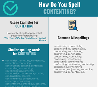 Correct spelling for contenting