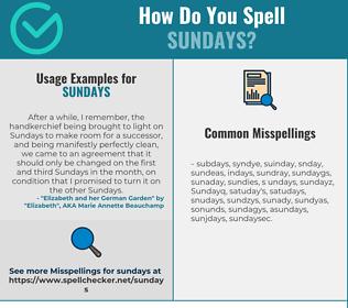 Correct spelling for Sundays