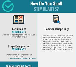 Correct spelling for stimulants [Infographic]   Spellchecker net