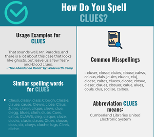 Correct spelling for clues