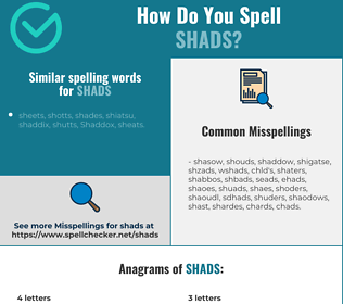 Correct spelling for shads