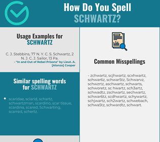 Correct spelling for Schwartz