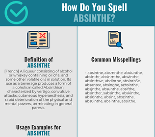 Correct spelling for absinthe
