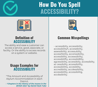 Correct spelling for accessibility