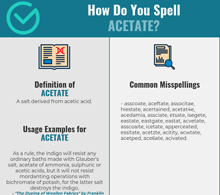 Correct spelling for acetate