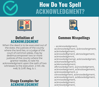 Correct spelling for acknowledgment