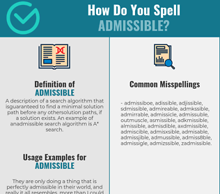 Correct spelling for admissible