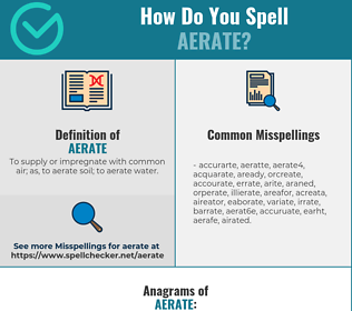 Correct spelling for aerate