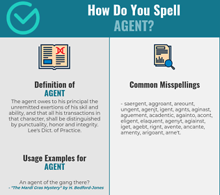 Correct spelling for agent