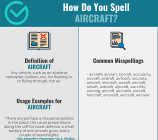 Correct spelling for aircraft