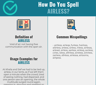 Correct spelling for airless