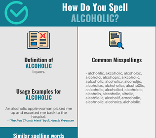 Correct spelling for alcoholic